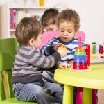 Children playing in the playroom