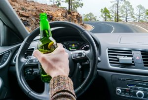 Person drinking while driving