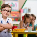 Young boy enrolled in preschool