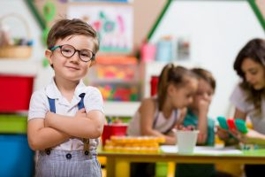 Young boy enrolled in preschool