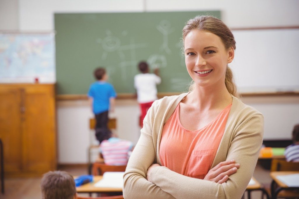teacher inside the classroom
